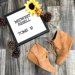 Toms Desert Wedge Lace-up Shoes -10